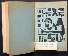 LETTRISME - Avant-garde Lettriste et EsthapeiristeGrâmmes, n° 2 – 1958. Revue du groupe Ultra-lettriste. Ed. du Terrain Vague. Textes de J. de La Villéglé (avec fac-similé d'une affiche lacérée février 1954), R. Estivals (sur I. Isou), François Dufrêne.