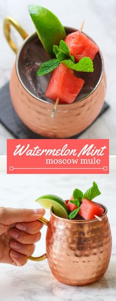Watermelon | Mint | Moscow Mule | Summer Cocktail | Party Cocktail | Fruit Cocktail | Easy Cocktail Recipe