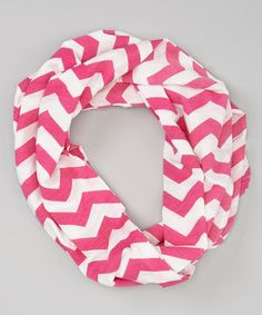 Another great find on #zulily! Hot Pink Zigzag Infinity Scarf by Polka Dotsy #zulilyfinds