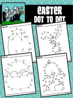 Dot to Dot / Connect the Dots 2 - 50 & 2 - 100 - EASTER SET