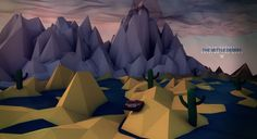 Low Poly Scenes on Behance