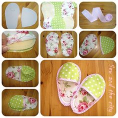 cute house shoes ;) Pattern is for little girls shoes but could make for dolls too