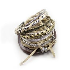 Classic Tan Layered Trend Style Bracelet