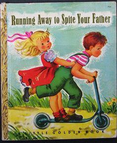 14 Inappropriate Classic Children's Books To Snuggle Up With Old Children's Books, Vintage Children's Books, Good Books, My Books, Story Books, Vintage Cards, Retro Vintage, Little Golden Books, Children's Literature