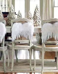 Christmas Angel Party - Angel Wings on Chair Backs