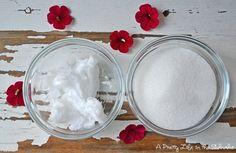 2+Ingredient+Coconut+Sugar+Scrub+{A+Pretty+Life}