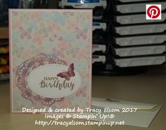 Butterfly birthday card created using the Rise Wonder Stamp Set and other products from Stampin' Up!   http://tracyelsom.stampinup.net