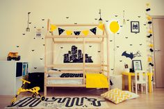Boys room, batman room, Montessori bed, children bed, frame bed, wood bed kids teepee baby bed house nursery crib children furniture toddler bed