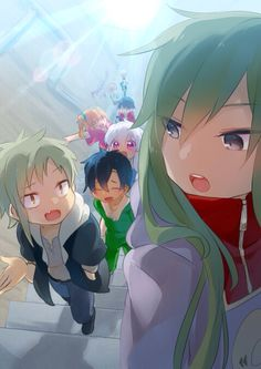 Kido and Momo Chinese Cartoon, K Project, Kagerou Project, Another Anime, Actors, Kawaii Cute, Spirit Animal, Anime Couples, Cute Art