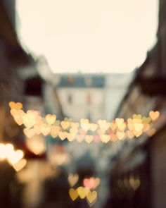 Paris Street with Heart Shaped Lights, Paris Photography, Valentines Day, Romance, Love, Pastel Wall Art - The Heart Has It's Reasons