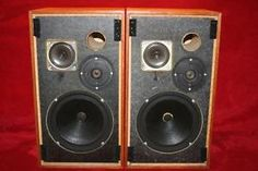 Goodmans The Havant Vintage Hi-Fi Stereo Speakers - MADE IN ENGLAND