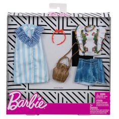 Barbie Clothes: 2 Outfits Doll Include A Blue and White Shirt Dress, Gift for 3 to 8 Year Olds Barbie Sets, Mattel Barbie, Barbie Dolls, Barbie Doll Accessories, Doll Clothes Barbie, Barbie Stuff, Doll Stuff, Vintage Barbie, Project Mc2 Dolls
