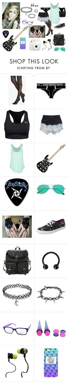 """Untitled #390"" by unicorn1233 ❤ liked on Polyvore featuring Express, UNDZ, Puma, Evil Twin, Rip Curl, Keds, Joomi Lim, SocialEyes and Monster"