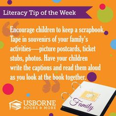 Literacy Tip!  Have a great week!! :)