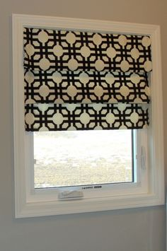 DIY roman shade! no sew! =D