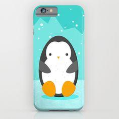 #cute #penguin #phonecase #blue #snow #ice