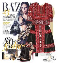 The Black Daiquiri by eleonoragocevska on Polyvore featuring moda, Chanel, Versace, NARS Cosmetics, Yves Saint Laurent, Naeem Khan and Sergio Rossi