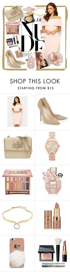 """""""Nudee."""" by sadeta-v ❤ liked on Polyvore featuring beauty, WearAll, Tommy Hilfiger, Michael Kors, Urban Decay, Viktor & Rolf, Alexis Bittar, tarte and Bobbi Brown Cosmetics"""