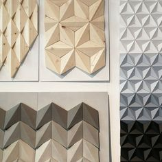 Close up of our stand at the Surface Design Show @surfacethinking in London. We really love how these 3 completely different materials match with each other and are receiving a lot of great feedback.  @kingkongdesign @trendeaseintl @surfacethinking #moduuli #surfacedesign #surfaces #newtalent2020 #londondesign #newmaterials #naturalmaterials #paperdesign #paperart #paperartist #polskidesign #polishcraft #polishdesigner #handmade #handmadedecor #homedecor #mosaicart #geometrictiles #wallpanel…