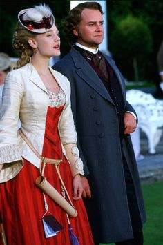 Daniel Deronda (2002). Romola Garai as Gwendolen and Hugh Bonneville as Lord Grandcourt.