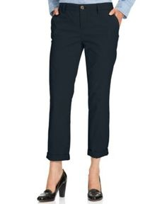 Tommy Hilfiger Cuffed Chino Straight-Leg Pants, Only at Macy's - Blue 16