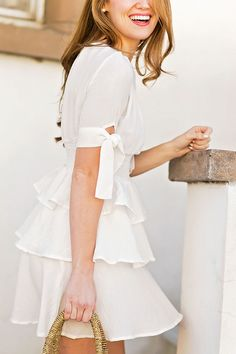 white flounce dress | spring style | spring fashion | how to style a flounce dress | fashion for spring | style for spring | warm weather fashion || a lonestar state of southern