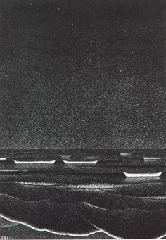 Bioluminescent dinoflagellates, rock! This has to be one of my favorite M. C. Escher prints.