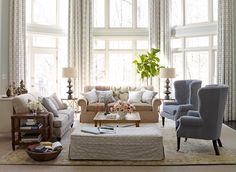 Lauren Liess   Pure Style Home.  A little pastel/muted, but love the mix of fabrics and a multicolor patterned rug.