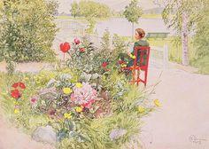 Summer In Sundborn Painting  - Summer In Sundborn Fine Art Print