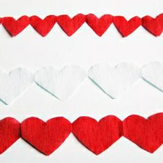 Simple DIY Heart Streamers - Great for a Valentine's day project