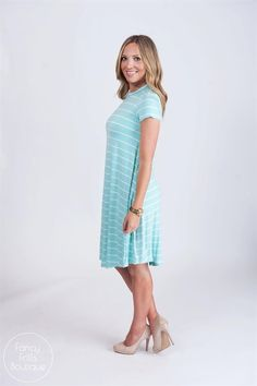 Striped Summer Shift Dress, say that 5 times fast! Or just snag one for yourself! ;)