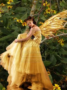 yellow fairy dress
