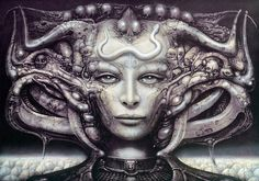 h.r. giger art for sale - tentacle head