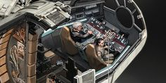 Stunning illustrations show what the interior of the Millennium Falcon might look like.