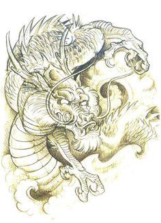 de Jee Sayalero sketchbook - Google Search Dragon Tattoo Art, Chinese Dragon Tattoos, Dragon Sleeve Tattoos, Dragon Art, Cool Chest Tattoos, Badass Tattoos, Tattoo Sketches, Tattoo Drawings, Dragon Oriental