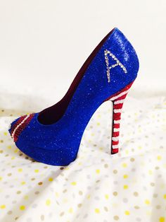 Captain America Custom Rhinestone Heels/ by AWhimsicalHoot on Etsy, $150.00