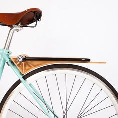 Good wood - 'Slim' all-in-one bike fender, lock holder and carry rack by Portland based design team Ruphus (click for more photos)