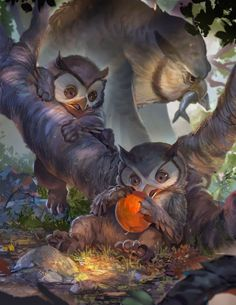 Benjamin Feehan Shared publicly  -  20:01   The final owlbear cub piece for the Baby Bestiary.  I don't know if I was even supposed to share this but... BABY OWLBEARS!  https://www.kickstarter.com/projects/metalweavedesigns/the-baby-bestiary