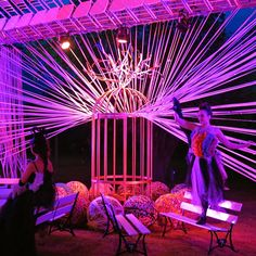 Verena Zech   illuminated textile installation #lighting #installation #textile Textile Art, Art Work, Fair Grounds, Textiles, Lighting, Concert, Travel, Artwork, Work Of Art