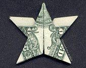 Dollar Bill Money Origami LITTLE STAR