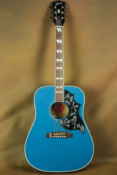 Gibson-Hummingbird-Custom-Blue-Finish-Acoustic-Guitar