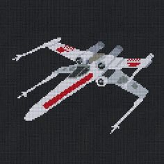 (10) Name: 'Embroidery : Star Wars X-Wing Cross Stitch