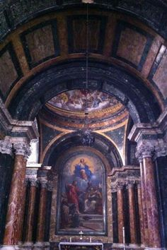 Cappella Cyno. Disegno di Bernini.