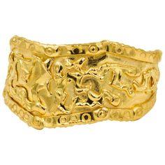 Jean Mahie 22K Yellow Gold Simple Cuff Bracelet ej8CLD5