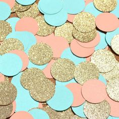 mint and gold glitter birthday - Google Search
