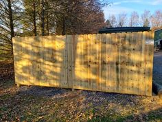 The guys from Tri-Boro Fence are on a roll.this Pressure Treated privacy fence surrounds the dumpsters at Southmoore Golf Course installed by Corey & his crew from Wood Privacy Fence, Black Jesus, Fence Styles, Boro, Modern Design, Guys, Outdoor Decor, Home Decor, Decoration Home
