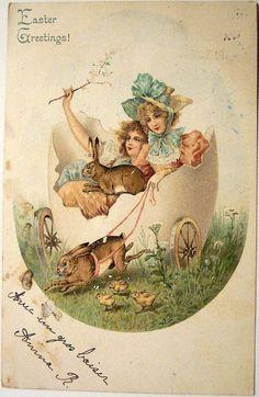 Картинки по запросу винтажные открытки к пасхе
