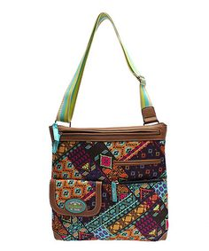 Loving this Patched Shapes Christy Large Crossbody Bag on #zulily! #zulilyfinds