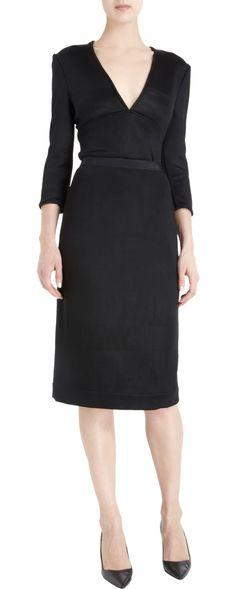 classic modest black dress
