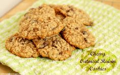 A Kitchen Addiction: Chewy Oatmeal Raisin Cookies